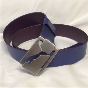 Puma logo buckled purple fun belt # 50F